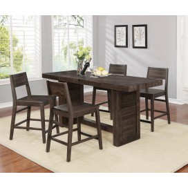 Barnes Rectangular Counter Height Table Varied Coffee