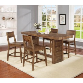 Barnes Rectangular Counter Height Table Varied Natural