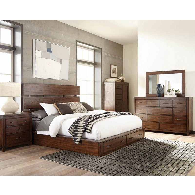 Artesia Storage Bedroom Set Dark Cocoa