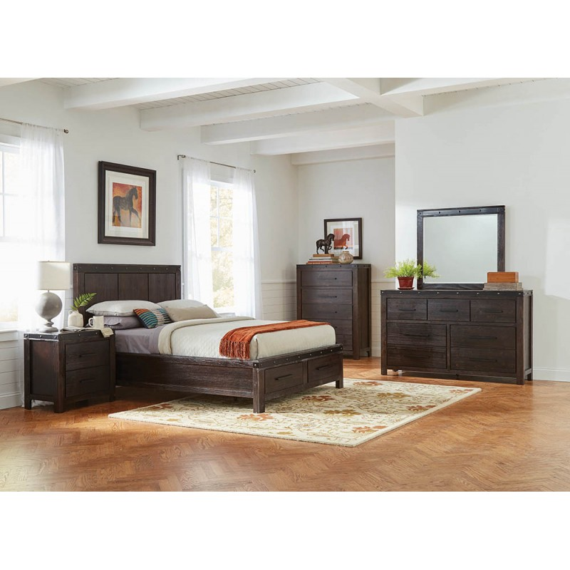 Barkley Bedroom Set Barn Door Grey