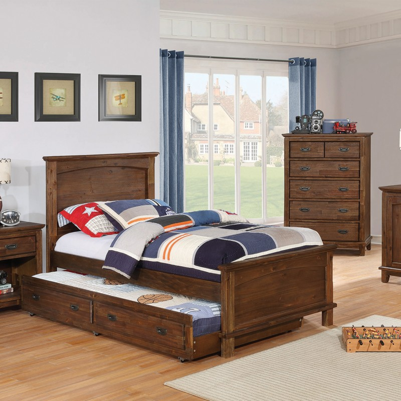 Kinsley Rustic Country Brown Full/Twin Bed