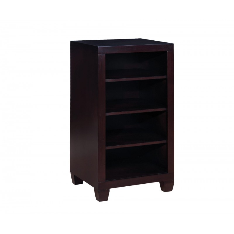 Danville Cappuccino Four-Tier Bookcase