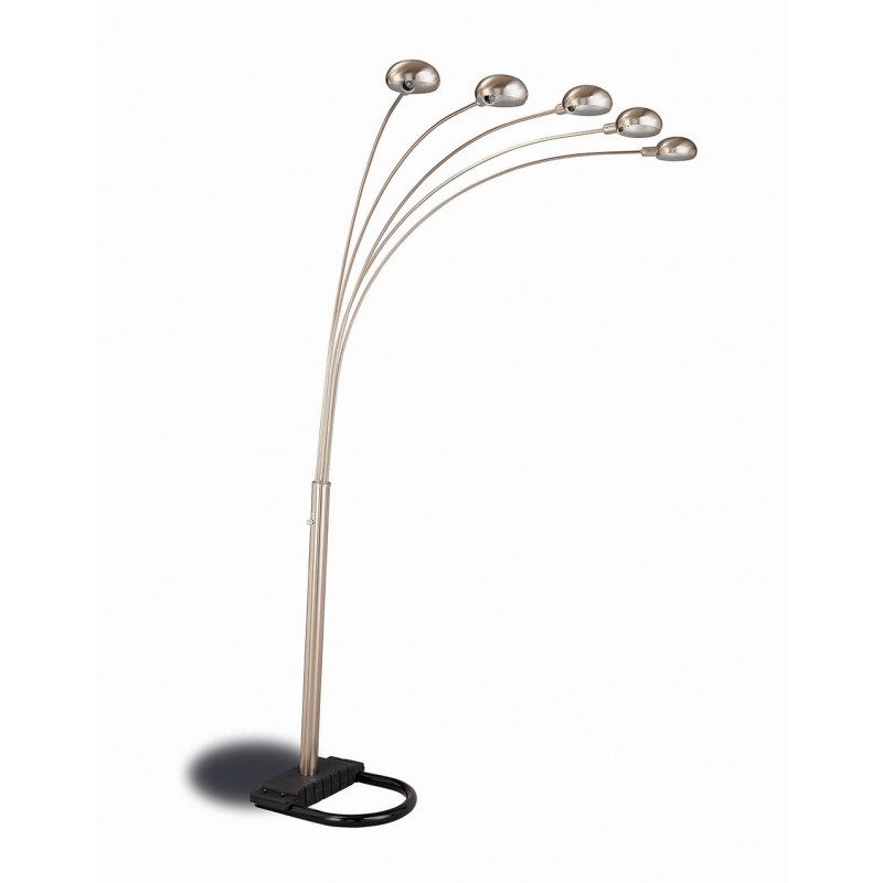 Contemporary Chrome And Black Floor Lamp