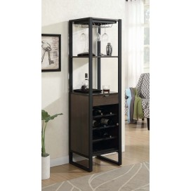 Industrial Wine Tower With Bottle Storage