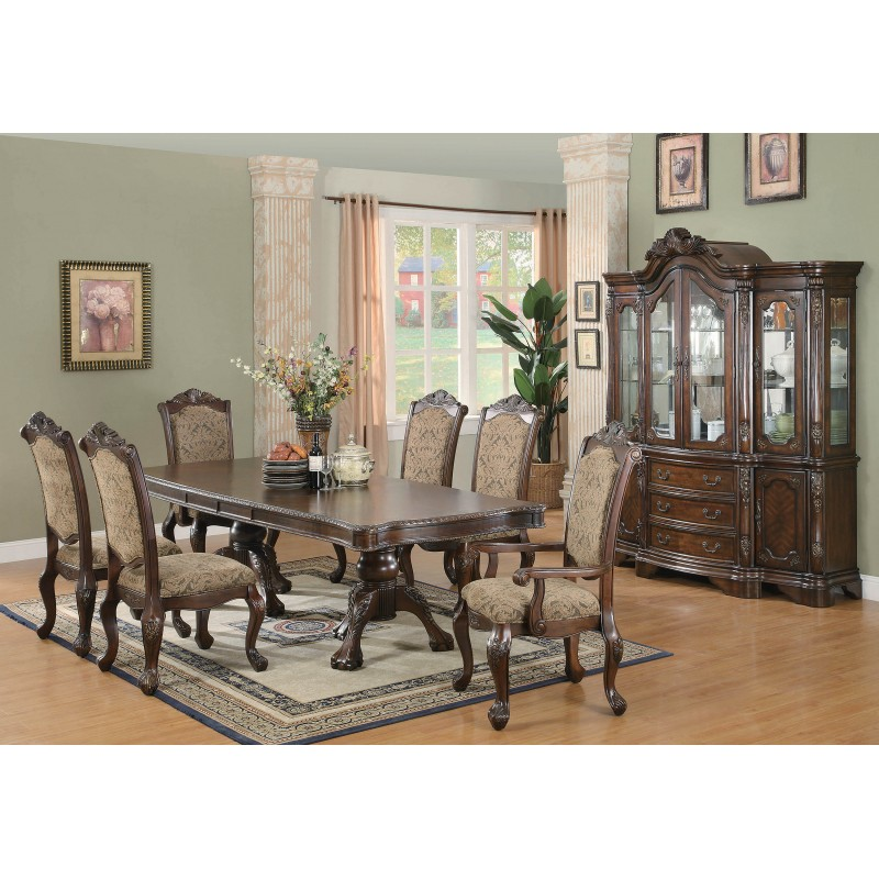 Andrea Traditional Brown And Cherry Server/China Cabinet