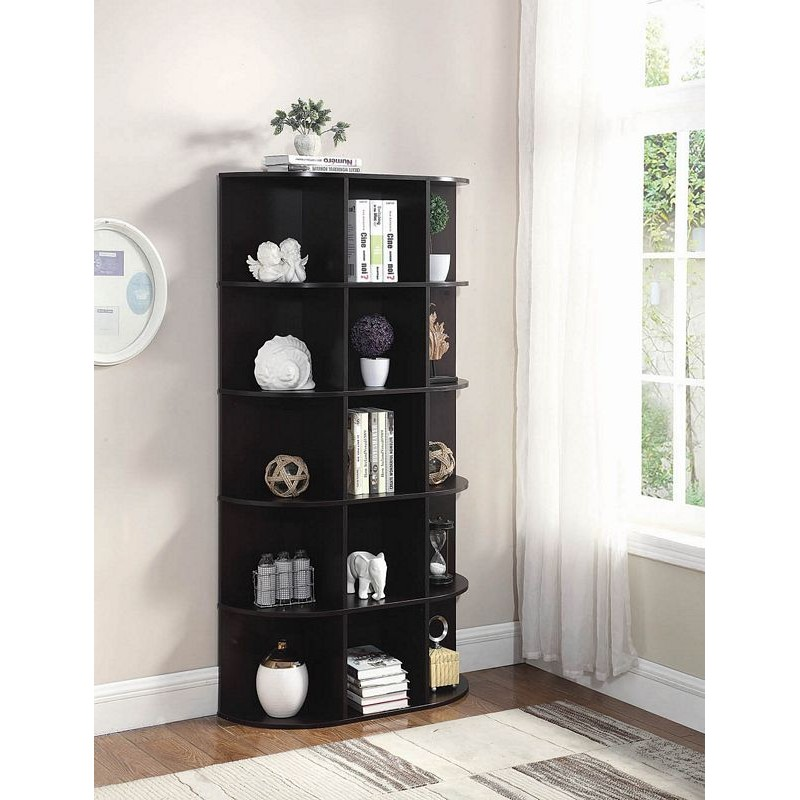 15-Shelf Bookcase Cappuccino