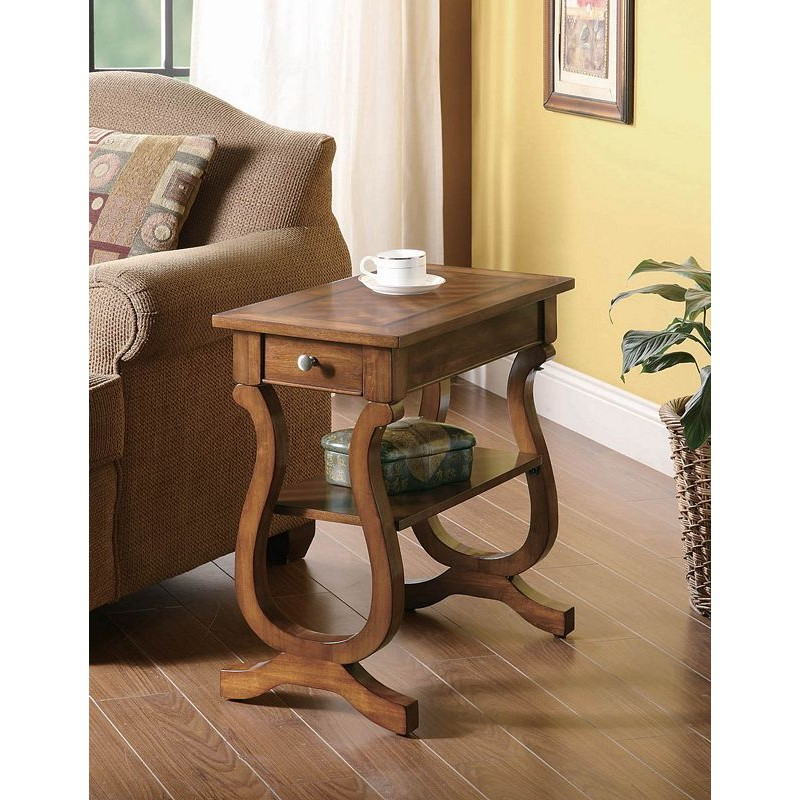 Transitional Cherry Accent Table