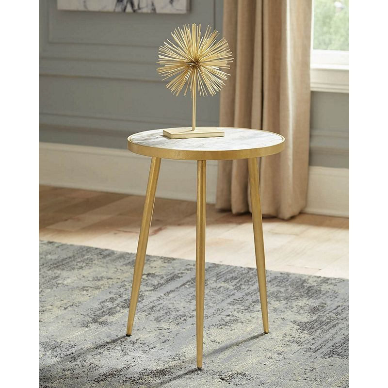 Modern Marble And Gold Accent Table