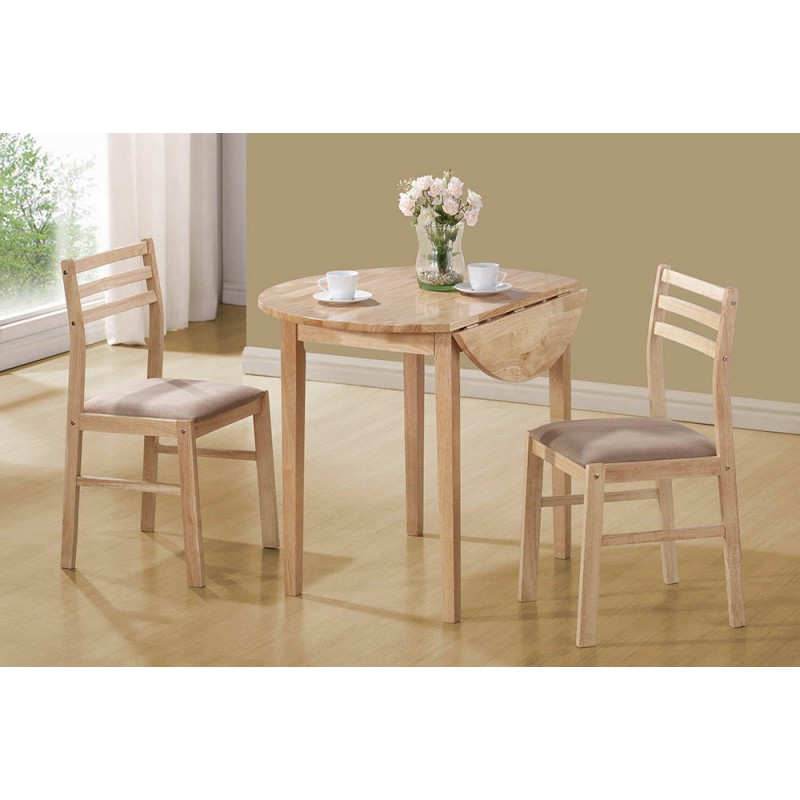 Casual Beige Three-Piece Dining Set