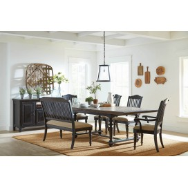 Simpson Rectangular Dining Table Latte And Vintage Black