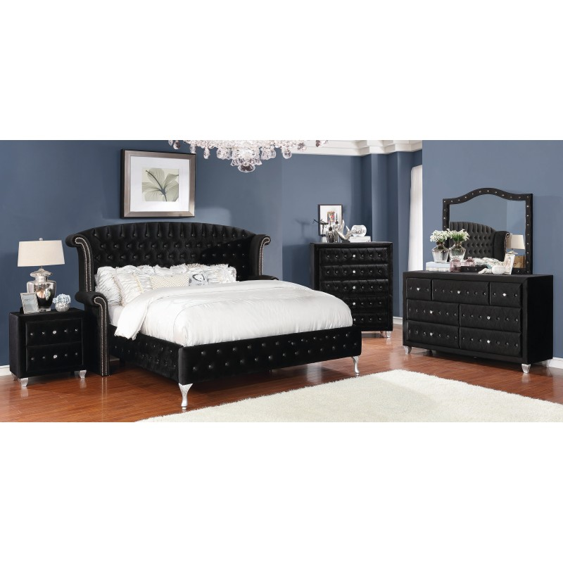 Deanna Contemporary Bed