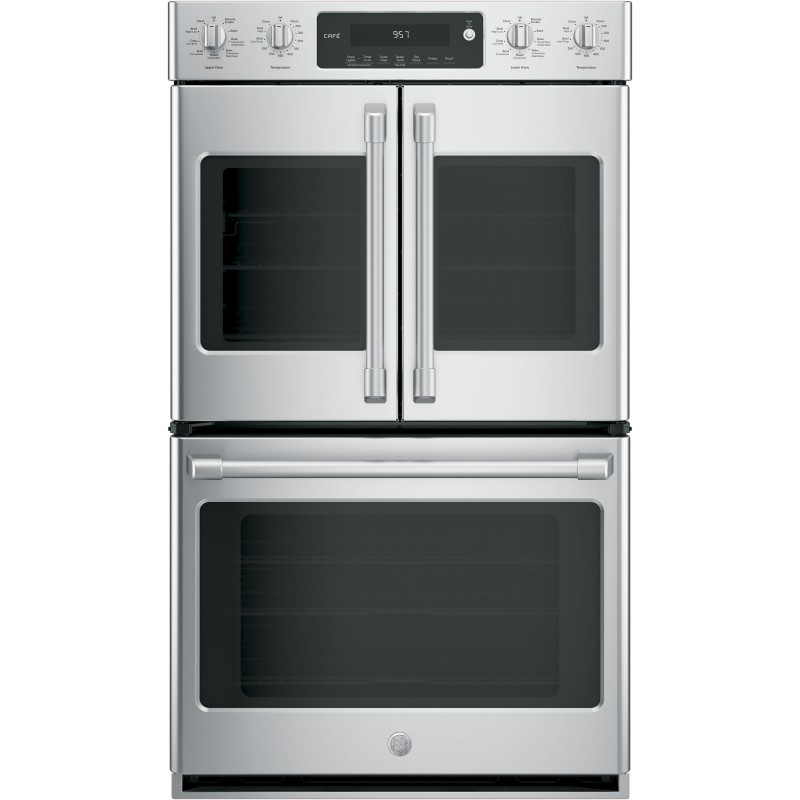 "GE Café™ Series 30"" Built-In Double Convection Wall Oven"