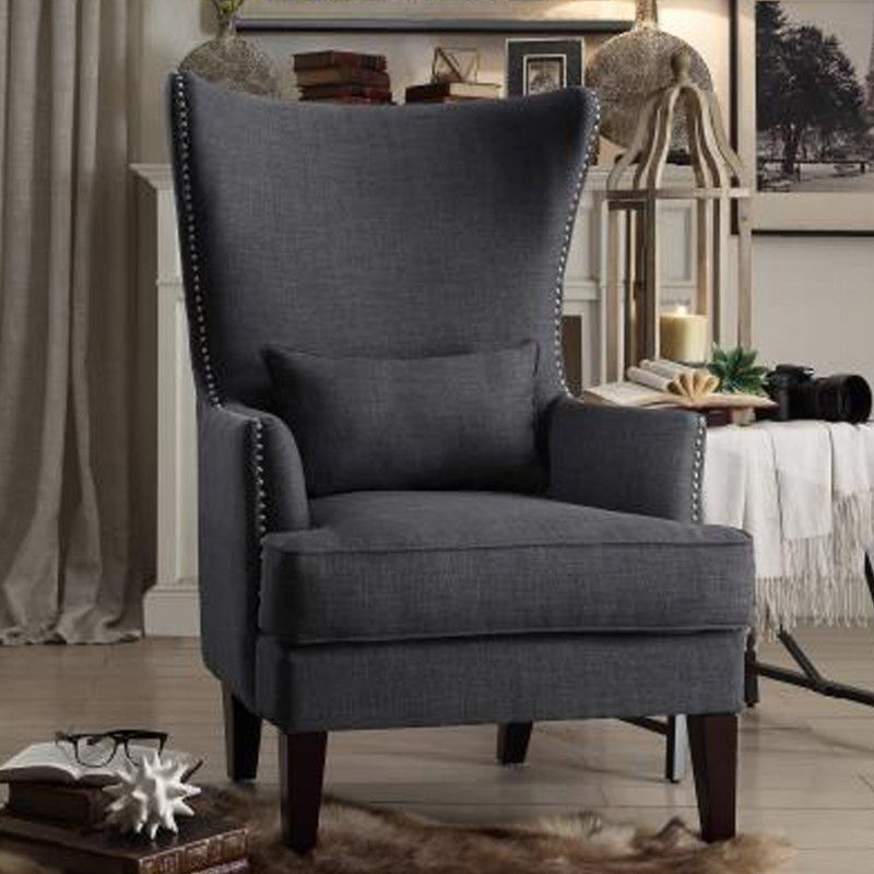 Avina Collection's Accent Chair with Kidney Pillow