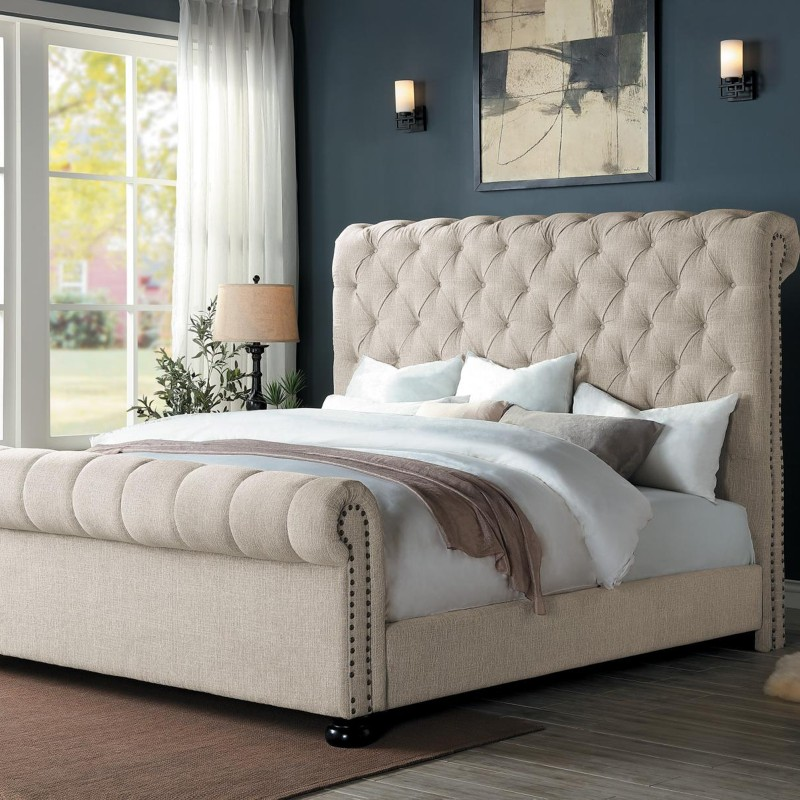 Belfield Collection's Queen Bed Upholstered Headboard