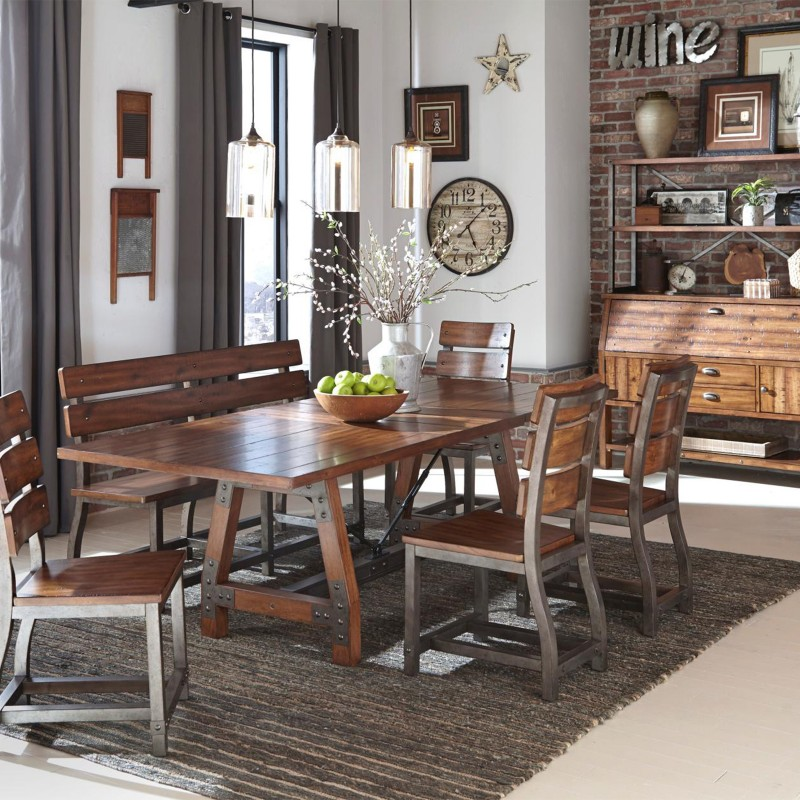 Holverson Collection Dining Set with Bench