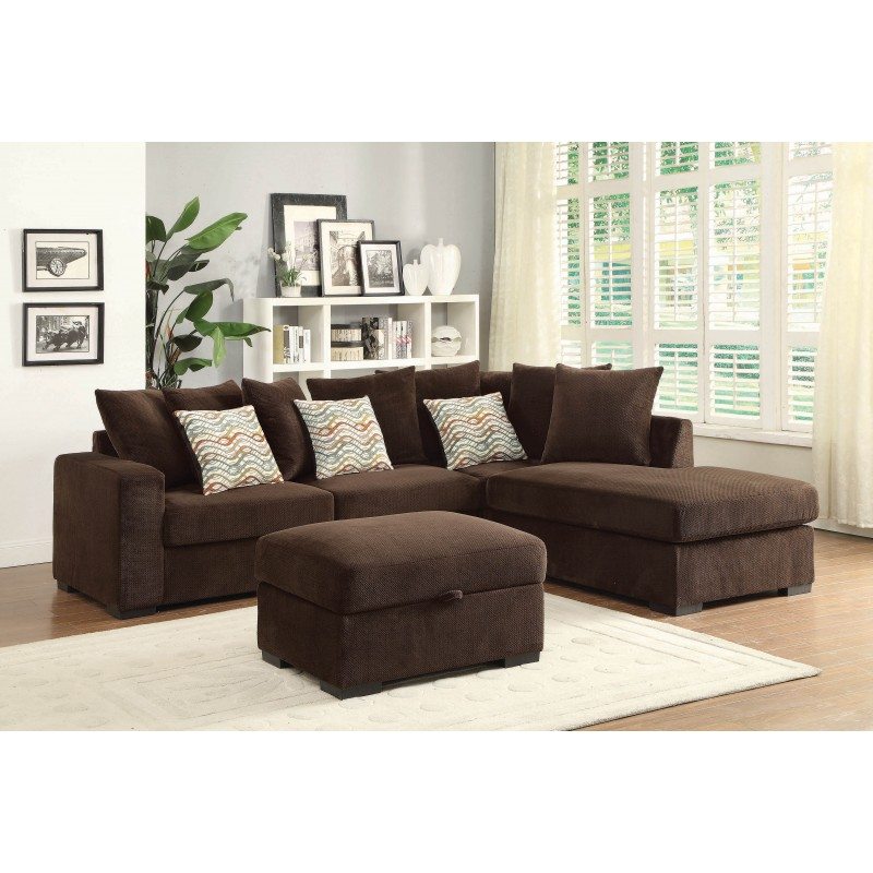Olson Chocolate Sectional