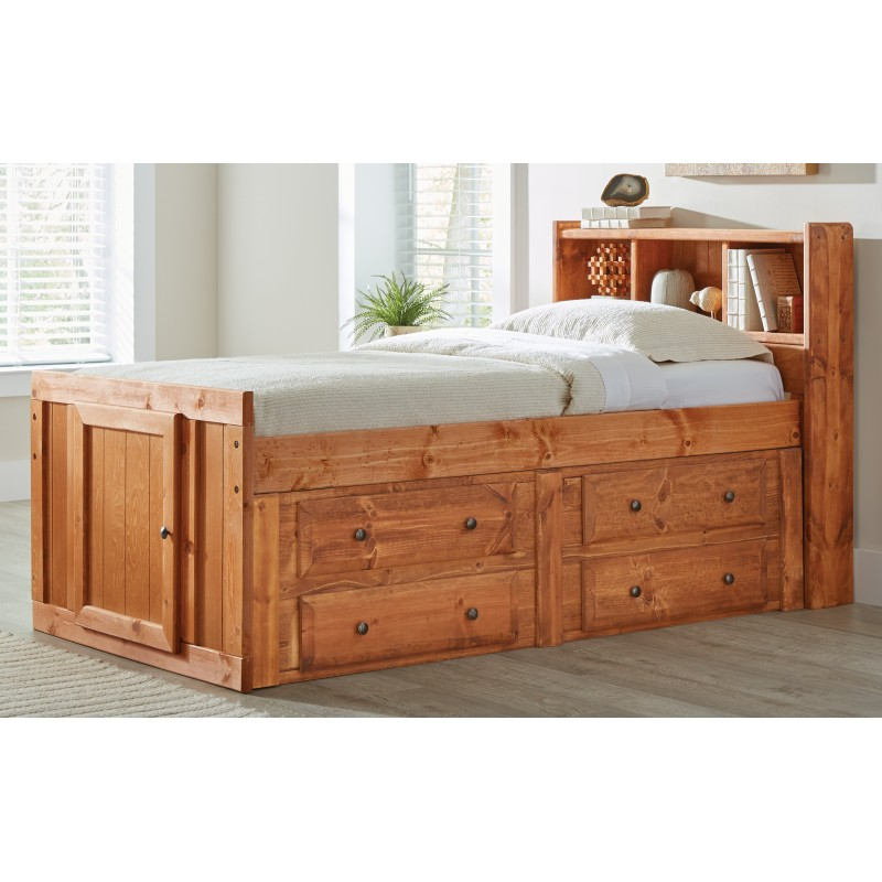 Wrangle Hill Collection's Twin Storage Bed