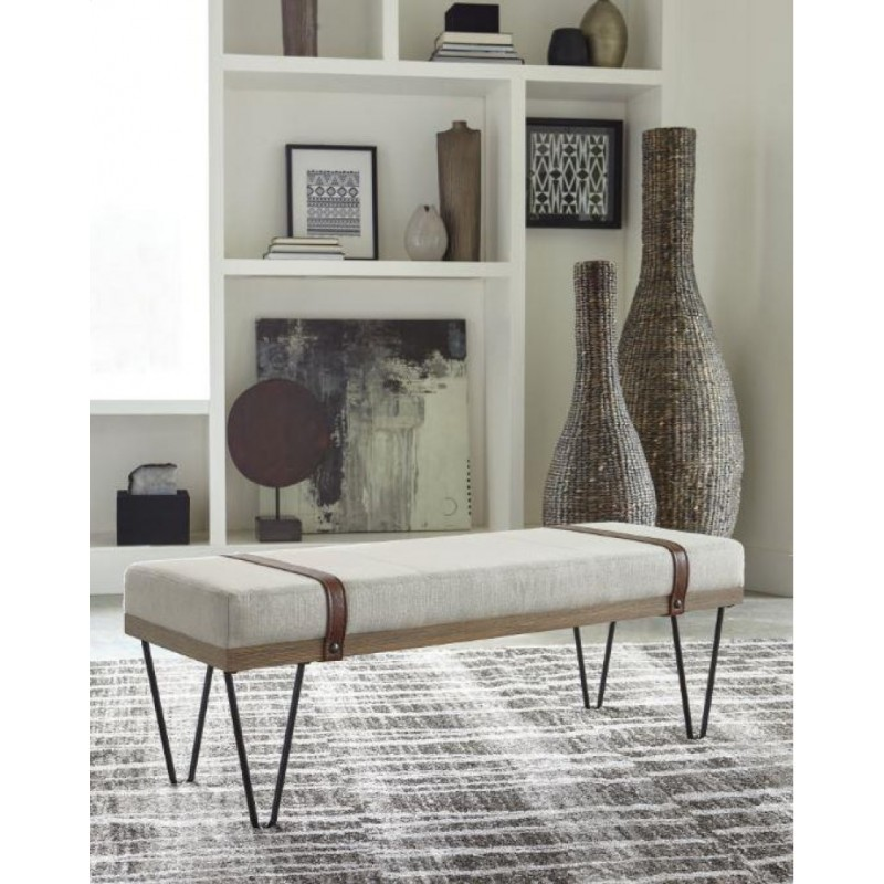Scott Living Beige And Black Bench