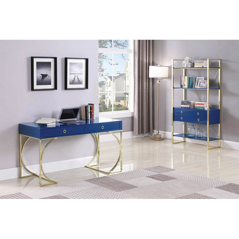 Odessa Collection's Desk with Bookcase