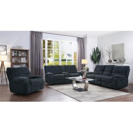 Perry 2-Piece and 3-Piece Upholstered Living Room Set Navy Blue