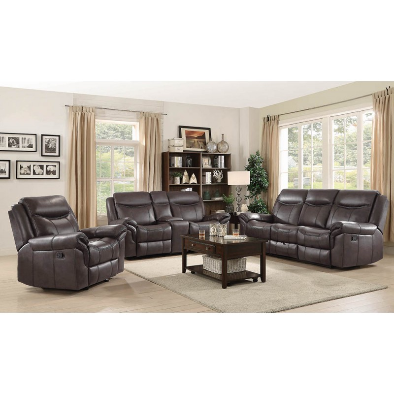 Sawyer Transitional Brown & Taupe Motion Sofa