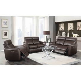 Scranton 2-Piece & 3-Piece Power Recline With Power Headrest Living Room Set Dark Brown
