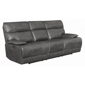 Stanford 2-Piece & 3-Piece Power Recline With Power Headrest Living Room Set Charcoal