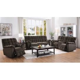 Lennox 2-Piece Living Room Set Chocolate