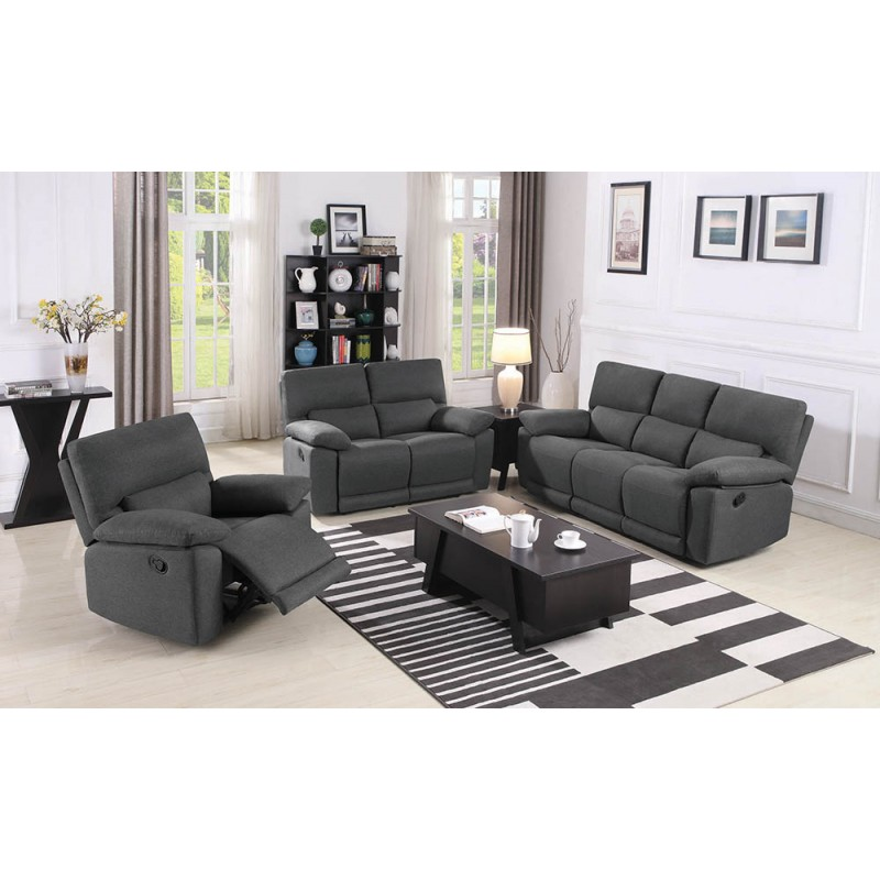 Hartville 2-Piece & 3-Piece Living Room Set Grey